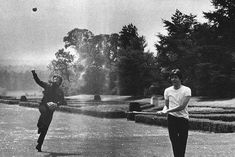 Photo of the day: Lennon and McCartney, possibly playing baseball