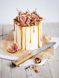 Walnuss Ombre Torte mit Ziegenfrischkäse und Mascarpone. Noch mehr Ideen gibt es auf www.Spaaz.de