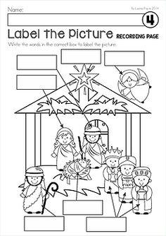 Label The Nativity~~& a Freebie! as seen on Kindergarten