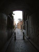 The arch through which we pass into Jack the Ripper's London