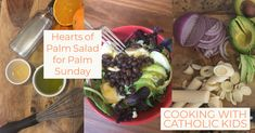 Hearts of Palm Salad for Palm Sunday