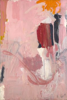 Mary Abbott. Bill's Painting', c. 1951, Oil on linen, 72 x 48 inches, dedicated to Willem de Kooning.