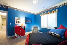 Gordon Milar Construction » Custom Home Builder. South Jordan Utah homes. Bedroom ideas. Lightning McQueen car bed. Blue bedroom walls. Back-light. House plans. Dream home.