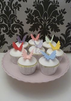 Here's a gallery of most beautiful and adorable butterfly themed cupcakes. Great decorating ideas will inspire you to make one of these yourself. Butterfly Cupcakes, Whoopie Pies, Themed Cupcakes, Cupcake Cakes, Cupcakes Decorating, Birthday, Desserts, Clever, Party Ideas