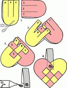 schema pattern per creare un cuore intrecciato