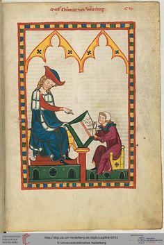 Cod. Pal. germ. 848: Große Heidelberger Liederhandschrift (Codex Manesse) (Zürich, ca. 1300 bis ca. 1340), Fol 383r