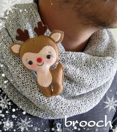 Felt Christmas ornament felt deer Reindeer Rudolph by MyMagicFelt