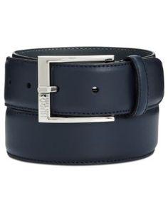 Hugo Boss Men's C-Ellotyo Leather Belt - Blue 40