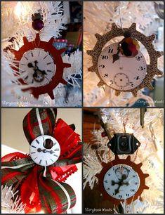 Gears and Clockface Steampunk Ornaments!!! Love!
