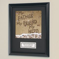 Personalized My Friend, My Hero Personalized Plaque