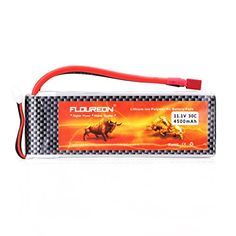 Floureon 111V 4500mAh High Power 3S 30C Lipo RC Battery with DeanStyle T Connector for RC Helicopter Hobby Drone and FPV 531 x 177 x 11 Inch ** Find out more about the great product at the image link.Note:It is affiliate link to Amazon.