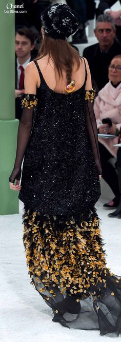 Appliqued Gown & Sequined Top
