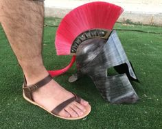 Free shipping-Leather Sandals 100% genuine by SpartaSandals