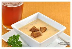 Beer and Cheese Soup: Sharp cheddar and Jarlsberg cheeses blend with a medium-bodied lager for a rich, creamy soup with a unique, subtle flavor.