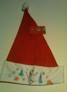 0ca8b985937 Disney Frozen Olaf Christmas Santa Claus Hat NWT