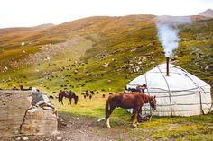 yurt in Kyrgyzstan