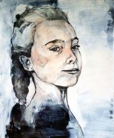 """mädchen - girlie"" acrylic and charcoal on canvas Nicol Lunardi Charcoal, Fine Art, Canvas, Artwork, Art, Graphics, Watercolor, Painting Art, Tela"
