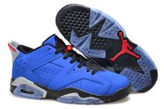 "40901aebb3f47b Girls Air Jordan 6 Low ""Eminem"" Blue Black Grey"