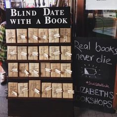 Blind Date with a Book - a clever idea from Elizabeth's Bookshop, Perth, Australia