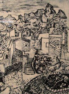 ΝΙΚΟΣ ΧΑΤΖΗΚΥΡΙΑΚΟΣ –ΓΚΙΚΑΣ (1906-1994) Χαλκογραφία αριθμημένη Painters, City Photo, Greek, Poster, Inspiration, Art, Biblical Inspiration, Art Background, Kunst