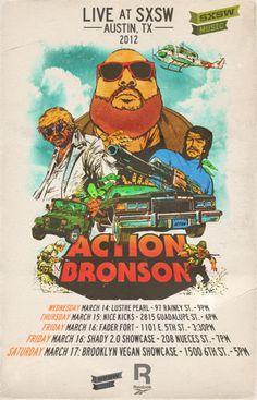Action Bronson SXSW 2012 poster