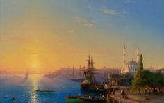 Художник И. К. Айвазовский Вид Константинополя и Босфорского залива, 1856