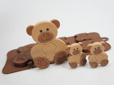 41 Teddy Bear Teddybear Animal Woodland Novelty by siliconemoulds