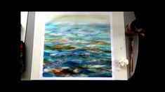 Acrylmalerei   Übungsbild  Wellenbewegung