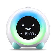 LittleHippo Mella Ready to Rise Children's Trainer, Alarm Clock, Night Light Sleep Sounds Machine (Arctic Blue) Littl. Sunrise Alarm Clock, Light Alarm Clock, Alarm Clocks, Toddler Sleep, Kids Sleep, Baby Sleep, Toddler Alarm Clock, Best Alarm, Clock For Kids