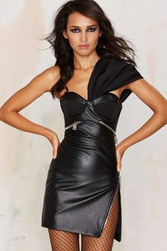Nasty Gal Big Trouble Vegan Leather Dress - Clothes | Best Sellers | Going Out | Dresses