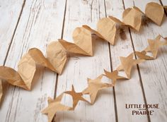 Paper garlands inspired by Little House on the Prairie