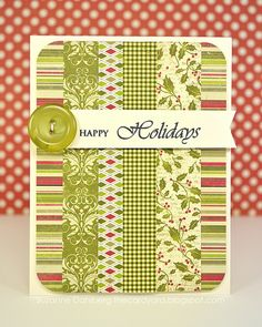 Love this card! A cute way to use up all those little scraps of paper!