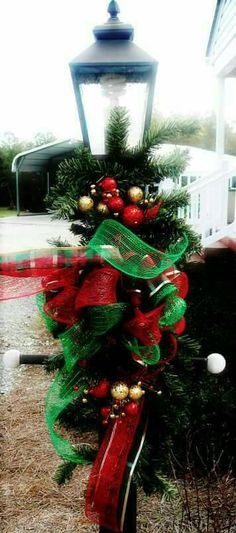 christmas outdoor decor christmas lamp post decor deco mesh outdoor decor deco mesh