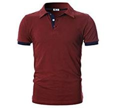 Plain Polo Shirts, Slim Man, Mens Fashion, Navy, Amazon, Store, Sleeve, Fit, Clothing