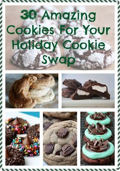 30 Amazing Cookies For Your Holiday Cookie Swap Get ready to step up your cookie game. Köstliche Desserts, Holiday Baking, Christmas Desserts, Delicious Desserts, Christmas Parties, Christmas Treats, Christmas Holiday, Chocolate Wafer Cookies, Brownie Cookies
