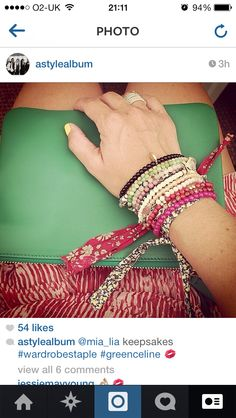 Louise Redknapp wearing Mia Lia bracelets and Seven Sisters Ring stack ❤️