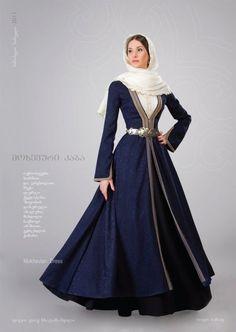 Ekaterine. Mokhevian Dress by Samoseli Pirveli. Traditional Georgian dress. Gorgeous.