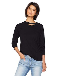 19aa9c3cf2534 n:PHILANTHROPY Women's Cage Long Sleeve, Blacl, XSmall - Click the pic for  more info (This is an affiliate link)
