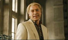 Javier Bardem as Silva in Skyfall. Javier makes his second appearance on this board. He may eventually beat out Alan Rickman!