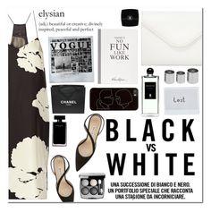 """Black vs. white"" by cjcstyle ❤ liked on Polyvore featuring TIBI, Serge Lutens, Neiman Marcus, Betty Jackson, Polaroid, Selfridges, Manolo Blahnik, Chanel, Narciso Rodriguez and Zero Gravity"