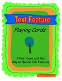 Text Feature Playing Cards