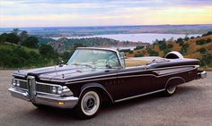 1959 Edsel Classic Cars Usa, American Classic Cars, Classic Auto, Ford Motor Company, Edsel Ford, Super Images, New Cars For Sale, Classic Car Restoration, Convertible