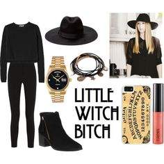 Zoe Benson. AHS Coven ❤ by littlestephy on Polyvore featuring moda, Rebecca Taylor, Topshop Unique, Office, Rolex, Forever 21, CellPowerCases, MAC Cosmetics, Coven and Descensum