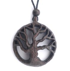 Bog oak & amber hand carved wooden jewellery - necklaces, brooches, kilt pins and pendants. Buy online.