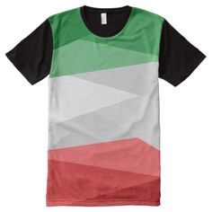 Green White and Red Color Stacks All-Over-Print Shirt - Visually Stunning Graphic T-Shirts By Talented Fashion Designers - Mens Fashion, Trendy Fashion, Red Color, Printed Shirts, Retro Vintage, Red And White, Kids Outfits, Fashion Designers, Madagascar Flag