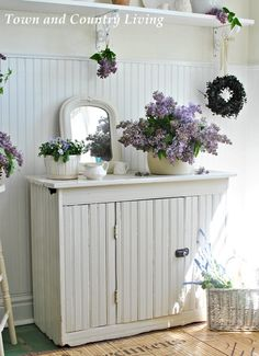 Lilacs and pansies signal the coming of spring