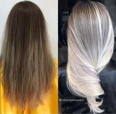 Before after white hair