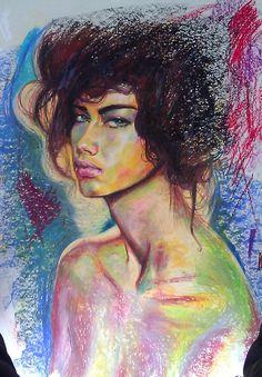 Adriana in oil Pastel by indi1288.deviantart.com on @deviantART
