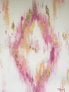 Pink Ikat Print by DanaMooneyArt on Etsy