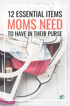 What are the essential items every mom carry in her purse? This post lists 12 necessities moms should have on hand. Purse Necessities, Purse Essentials, Parenting Toddlers, Parenting Tips, Every Mom Needs, Pregnancy Advice, New Baby Products, Emergency Bag, Reunions